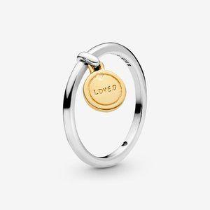 Pandora Loved Script Medallion Ring